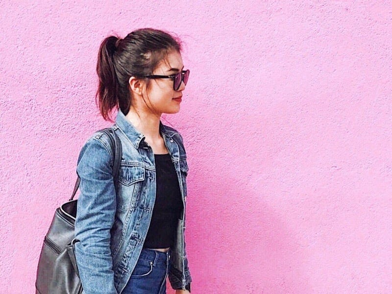 LAピンクの壁