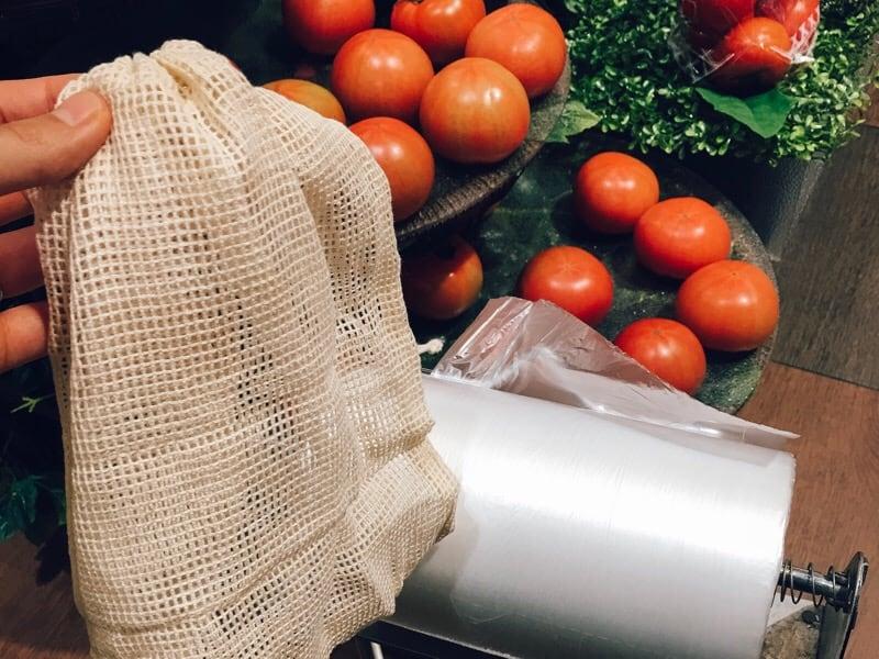 コットン袋野菜