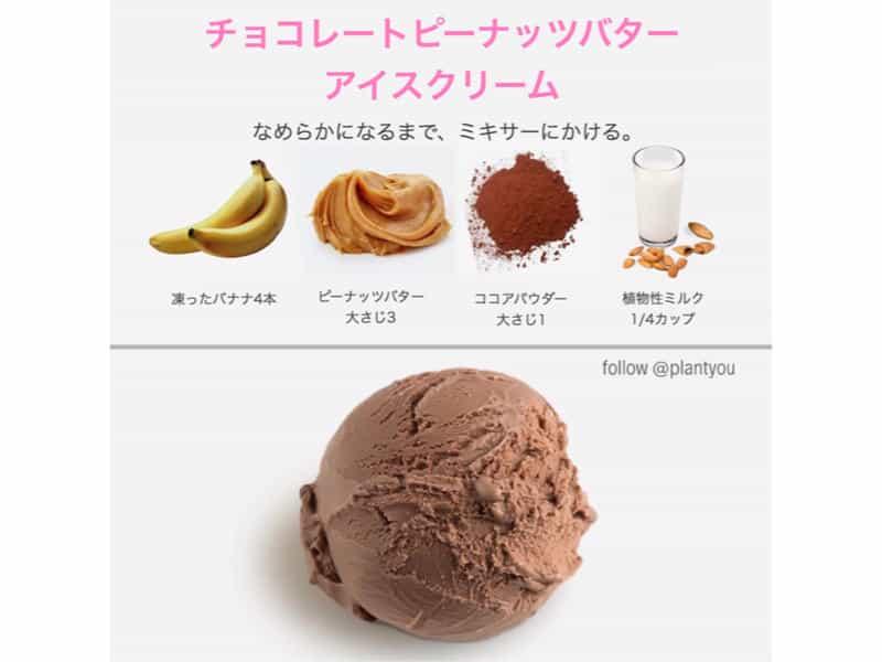 ヴィーガンチョコレートアイスクリーム